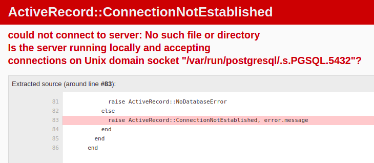 image with database error